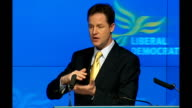Liberal Democrats launch manifesto Nick Clegg speech Nick Clegg QA session SOT If you are earning less than £10000 then you don't get full benefit...