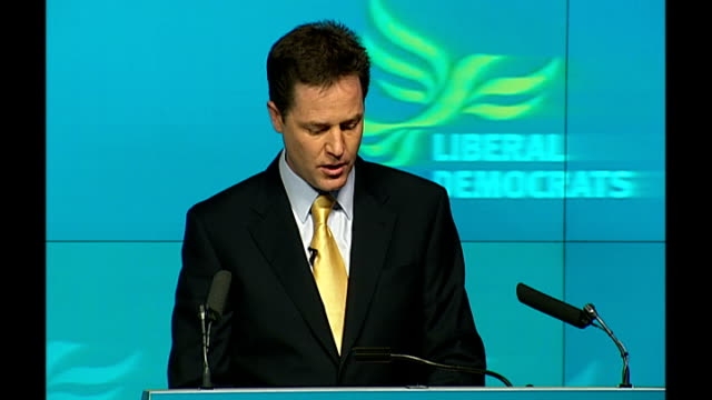 Liberal Democrats launch manifesto Nick Clegg speech Nick Clegg MP QA session SOT Refuse to accept that a 10% reduction in this huge industry of tax...