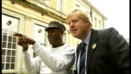 London issues / 'Boris Johnson effect' Boris Johnson posing with man in street for photograph Colin Rallings interview SOT EXT Boris Johnson talking...