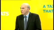 Nick Clegg and Vince Cable give press conference Cable press conference SOT We want to lift over 3 and half million people out of tax altogether /...