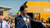 Nick Clegg in Norwich Nick Clegg speech continued SOT There are big distinctions on policies we are only party saying if you want fair taxes people...