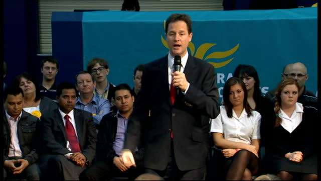 Nick Clegg makes speech to community organisations in Liverpool Nick Clegg MP speech SOT 48 hours to do something different / I commit that the Lib...
