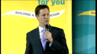 Nick Clegg speaks at Richmond rally ENGLAND London Richmond INT Vince Cable MP introduces Nick Clegg SOT PAN as Clegg onto stage Nick Clegg MP speech...
