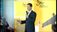 Nick Clegg speech at rally in Gateshead Nick Clegg speech SOT Here and in Sheffield we've given the lowest council tax increases ever / my message is...