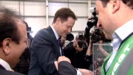 Nick Clegg visits 2K Manufacturing in Luton **BEWARE Clegg chatting to staff during visit to 2K Manufacturing company / Clegg looking at waste...