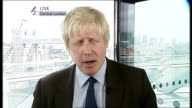 No outright election winner Parties plan coalition talks ENGLAND London INT Boris Johnson LIVE 2WAY interview from City Hall SOT Can't claim this is...