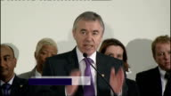 Plaid Cymru manifesto launch WALES INT Ieuan Wyn Jones AM speech SOT The choice between Labour cuts or Tory cuts is no choice at all the need is...