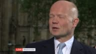 Campaign issues ENGLAND London Westminster EXT LIVE interviews with Chuka Umunna SOT William Hague SOT Lord Paddick SOT and Diane James SOT