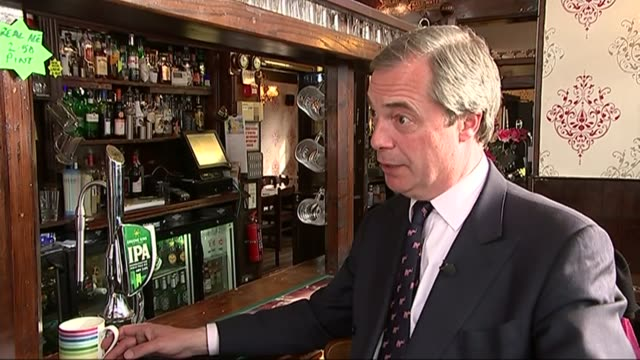 Campaigning ENGLAND Essex Thurrock INT Nigel Farage interview SOT Essex is very important Nigel Farage along on walkabout with UKIP supporters...
