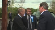 Conservative David Cameron campaigning in Dumfries SCOTLAND Dumfries and Galloway Dumfries EXT David Cameron and wife Samantha Cameron out of car and...