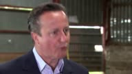 Conservative David Cameron interview WALES Brecon INT David Cameron interview SOT the right thing to do in an election is talk about the issues and...