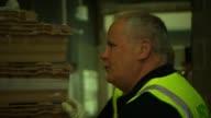 Conservative David Cameron visits Asda warehouse ENGLAND Bristol South West England EXT / NIGHT *** WARNING GVs Asda van / David Cameron MP leaving...