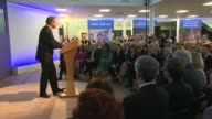 Conservative Party Manifesto launch Cutaways ENGLAND Wiltshire Swindon PHOTOGRAPHY** CUTAWAYS of David Cameron arriving to standing ovation SOT /...