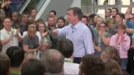 Conservatives David Cameron 'PM Direct' speech at Asda HQ David Cameron Question and Answer session SOT please make sure you do vote on May the 7th...
