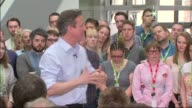 Conservatives David Cameron 'PM Direct' speech at Asda HQ David Cameron QA session continued SOT/ QA sesisno ends audience applaud as Camern leaves/...