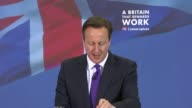 David Cameron speech at Dunster House ENGLAND Bedfordshire Bedford Dunster House INT Chris Murphy speech SOT / David Cameron speech SOT