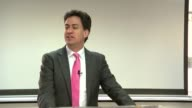 Ed Miliband speech at the Praise House Community Church in Croydon Ed Miliband attending gospel church service and listening to speaker Ed Miliband...