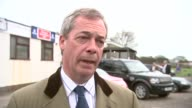 Farage interview ENGLAND Kent Thanet EXT Nigel Farage interview SOT Wishes the Duke and Duchess of Cambridge all the best for the birth of their...