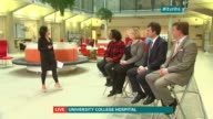 Future of NHS in London ENGLAND London Univesity College Hospital INT LIVE panel discussion DISCO about NHS in London featuring Diane Abbott Mary...