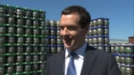 George Osborne visits Harveys Brewery in Lewes EXT George Osborne along and past / interview SOT on economic plan for south coast / build roads like...