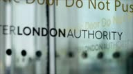 If I Were Prime Minister Nick Ferrari T13111431 / 'Greater London Authority' sign on glass door