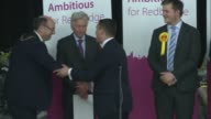 Ilford North declaration Wes Streeting wins ENGLAND London INT Ilford North declaration Officials counting votes in hall / candidates including Wes...