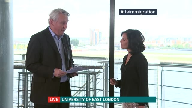 Immigration policy ENGLAND London Univerity of East London INT Robert Gordon Clark LIVE interview SOT [ASTONS