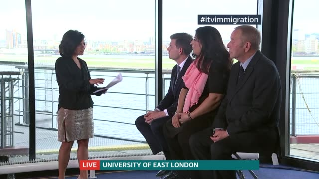 Immigration policy ENGLAND London Univerity of East London INT Matthew Goodwin Sajeel Kershi John Dumbleton LIVE interviews SOT [ASTONS