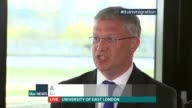 Immigration policy ENGLAND London Univerity of East London INT Andrew Rosindell Winston McKenzie Maajid Nawaz and Gareth Thomas LIVE interviews SOT...