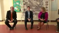Liberal Democrats set out housing plans and criticise 'Right to Buy' scheme ENGLAND Sussex Seaford INT Nick Clegg sitting with primary school...