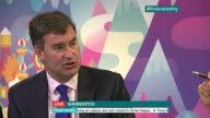 London issues on last day of campaign ENGLAND London Shoreditch THROUGHOUT *** David Gauke MP LIVE interview SOT On why public still not trusting...