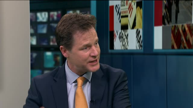 Nick Clegg interview GIR INT Nick Clegg STUDIO interview SOT I don't think that's going to happen at all we have incredibly popular local MPs/ can't...