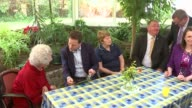 Nick Clegg visits Powys care home Glanenig House care home INT Varios of Nick Clegg chatting with elderly residents during visit to care home Kirsty...