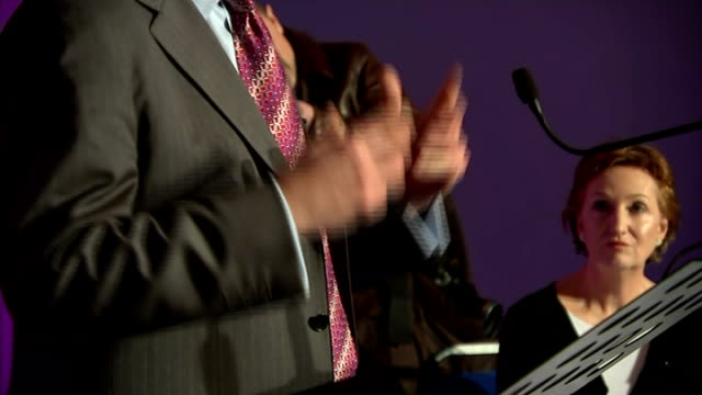 Nigel Farage speech cutaways ENGLAND Essex Canvey Island PHOTOGRAPHY** Nigel Farage MEP at podium Nigel Farage MEP speech cutaways SOT Audience...