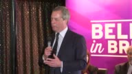 Nigel Farage speech in Margate ENGLAND Kent Margate Cliftonville The Holly Tree Pub INT Nigel Farage along into room to applause and to stage Nigel...