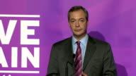 Nigel Farage speech to launch UKIP campaign ENGLAND Essex Canvey Island PHOTOGRAPHY** Councillor Jamie Huntman introduction SOT Nigel Farage MEP...