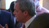 Nigel Farage visits Ramsgate pub on St George's Day Further shots of Nigel Farage talking to reporters in bar area SOT re being proud of England flag...