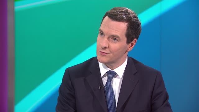 Parliament dissolved as campaigning officially begins ENGLAND London GIR INT George Osborne LIVE STUDIO interview SOT