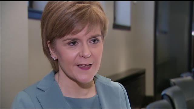 Poll suggests SNP could win all seats in Scotland and wipe out Labour SCOTLAND INT Nicola Sturgeon MSP interview SOT No matter how strongly somebody...