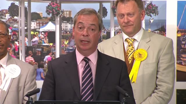 Thanet South declaration Nigel Farage loses to Conservative candidate Craig MacKinley Nigel Farage concession speech SOT The definition of whether...