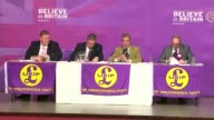 UKIP Nigel Farage campaigning in Thanet / election promise on police force ENGLAND Kent Thanet INT Nigel Farage MEP press conference SOT there is a...