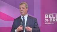 UKIP Nigel Farage speech Farage speech SOT Re debates clear to me mathematically Labour will not be able to govern without the SNP / Scotland have...