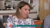 Undecided voters Falkirk and Stevenage SCOTLAND Falkirk INT Reporter Debi Edward speaks to undecided voters Scott Julie and Andrew/ ENGLAND...