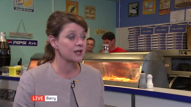 Wales campaign WALES Barry INT Leanne Wood AM LIVE interview SOT on why the SNP are so strong in Scotland on what she has learnt from Nicola Sturgeon...