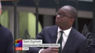 Young voters 'Why Vote' debate Reporter reading tweets on screen Gymiah answering during LIVE #whyvote DISCUSSION SOT Audience questions SOT Gymiah...