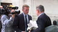 more arrivals at New Broadcasting House ENGLAND London New Broadcasting House EXT Jeremy Corbyn arriving / Sir Michael Fallon from car and into...
