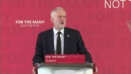 Campaigning resumes following Manchester Arena terror attack / terrorism debate ENGLAND London Westminster INT Jeremy Corbyn stands with others for...
