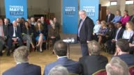 Conervative Cutaways Theresa May in Harrow ENGLAND London Harrow INT CUTAWAYS from the campaign event held by Theresa May and Sir Patrick McLoughlin...