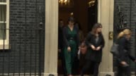 Dissolution of parliament Theresa May departs Downing Street for Buckingham Palace ENGLAND London Downing Street EXT David Davis arrives and into...