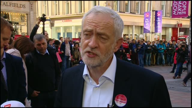 final day of campaigning SCOTLAND Glasgow EXT Jeremy Corbyn interview SOT we ahve to protect our basic freedoms our basic democracy and our human...